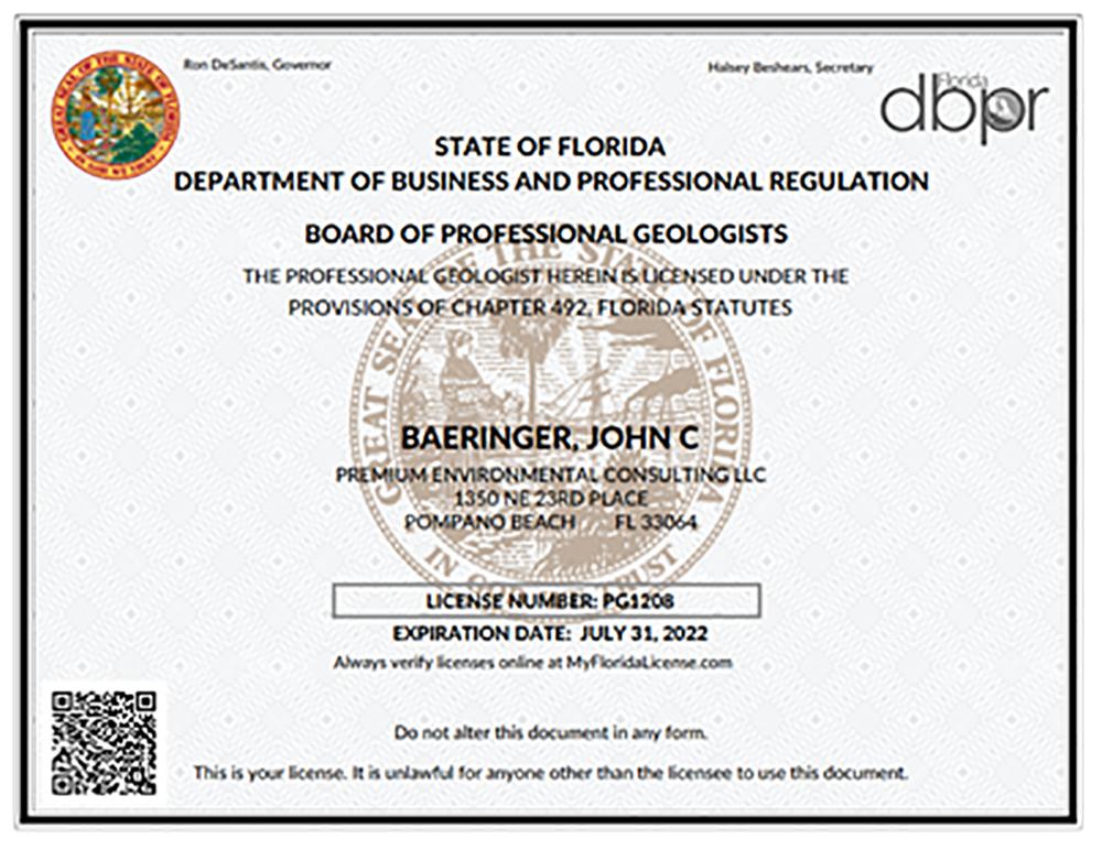 DBPR License