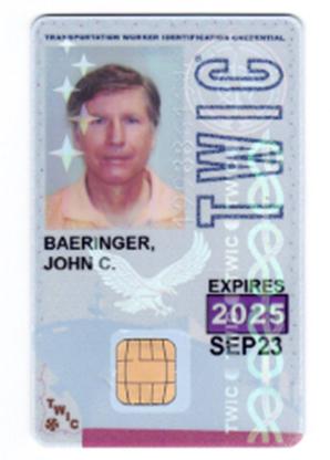 John Baeringer Badge