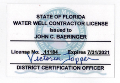 Water Well Contractor License